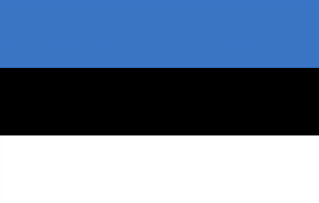 What colors does the flag of Estonia consist of?