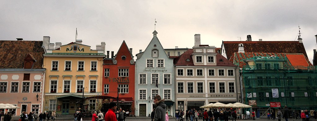 Profile of Old Town in Tallinn, Estonia